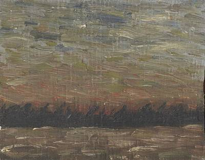 Painting - Storm At Sunset by David Dossett