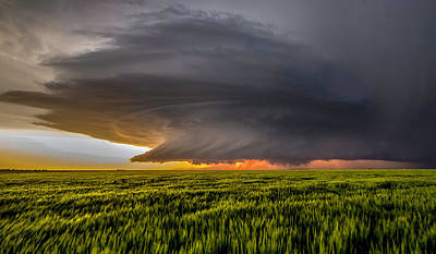 Thunder Photograph - Storm At Sunset by Rob Darby