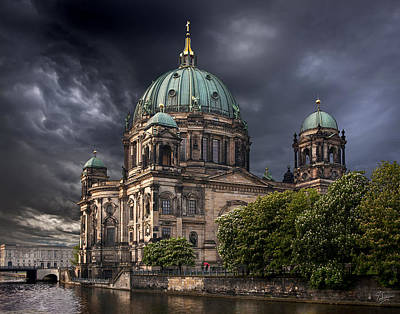 Photograph - Storm At The Berlin Cathedral  by Endre Balogh