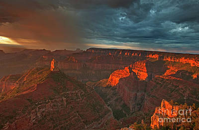 Photograph - Storm At The North Rim Grand Canyon Arizona by Dave Welling