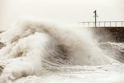 Storm At Workington Print by Ashley Cooper
