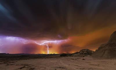 Storm Clouds Wall Art - Photograph - Storm Bardenas by Martin Zalba