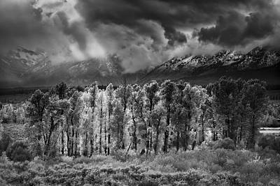 Teton Wall Art - Photograph - Storm Break by Mike Lang