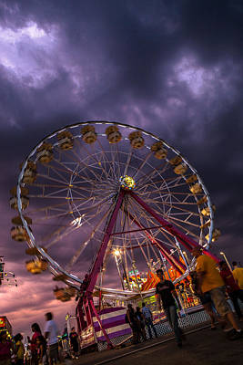 Photograph - Storm Brewing At The Fair by Sennie Pierson