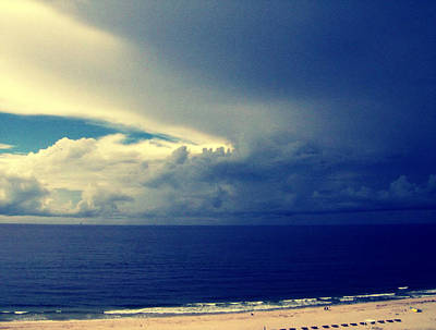 Blue Photograph - Storm Brewing by Betsy Jones