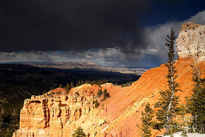 Photograph - Storm Brewing-bryce Canyon by Butch Lombardi