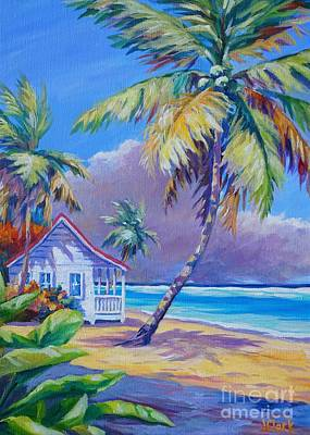 Caribbean Sea Painting - Storm Brewing by John Clark