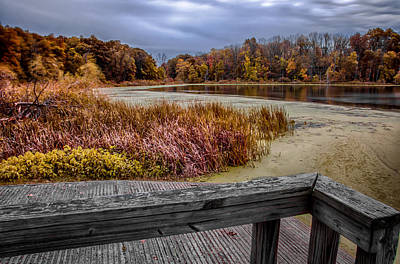 Photograph - Storm Brewing On Norman Lake by Gene Sherrill
