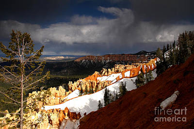 Photograph - Storm Brewing South Rim Bryce Canyon by Butch Lombardi