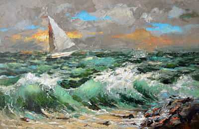 Painting - Storm Broke Out by Dmitry Spiros