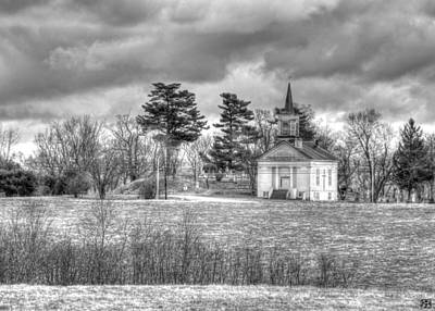 Photograph - Storm Church by John Meader