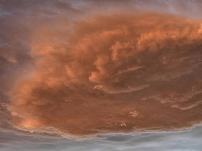 Photograph - Storm Cloud Textures 2 by Leland D Howard