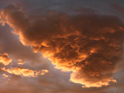 Photograph - Storm Cloud Textures 3 by Leland D Howard