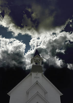 Photograph - Storm Clouds At Prairie Chapel  by Ann Powell