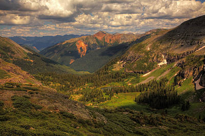 Photograph - Storm Clouds Building Over The San Juan Mountains by Alan Vance Ley