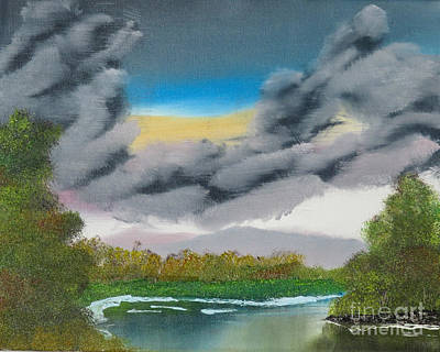 Bob Ross Painting - Storm Clouds by Dave Atkins
