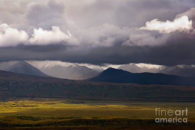 Grey Clouds Photograph - Storm Clouds, Denali National Park by Ron Sanford