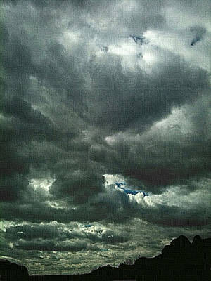 Mixed Media - Storm Clouds by Dennis Buckman