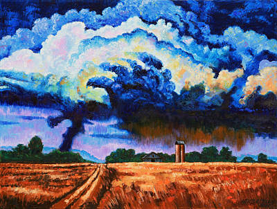 Storm Clouds Painting - Storm Clouds For Beth by John Lautermilch
