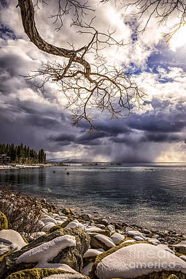 Storm Clouds From Cave Rock Art Print
