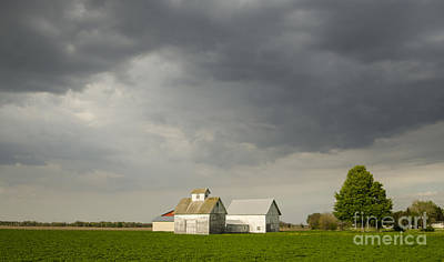 Photograph - Storm Clouds Gather Over Farm Towanda Illinois by Deborah Smolinske