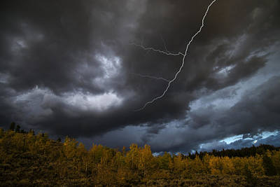 Photograph - Storm Clouds, Grand Teton Np, Wy by Mark Newman
