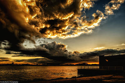 Art Print featuring the photograph Storm Clouds by Linda Karlin
