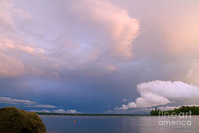 Photograph - Storm Clouds Off Emerald Point by Butch Lombardi