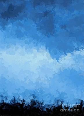 Cornfield Digital Art - Storm Clouds Over A Cornfield by Tim Richards