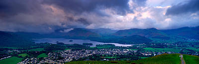Storm Clouds Over A Landscape, Keswick Art Print by Panoramic Images