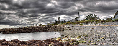 Photograph - Storm Clouds Over Biddefordpool by David Bishop