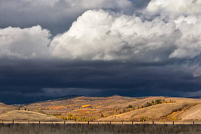 Photograph - Storm Clouds Over Blacktail Butte by Kathleen Bishop