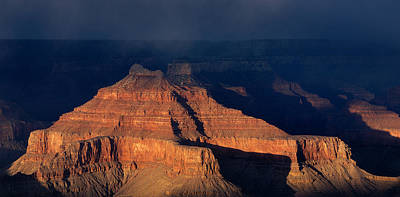 Storm Clouds Over Grand Canyon Az Print by Panoramic Images