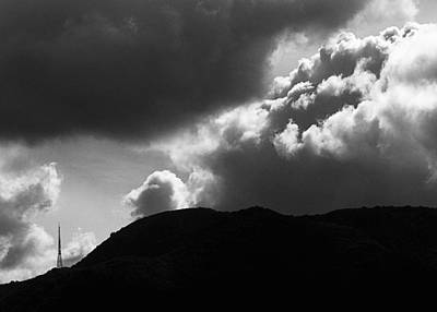 Storm Clouds Over Griffith Park Print by Ron Regalado