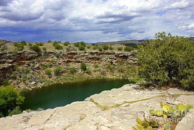 Photograph - Storm Clouds Over Montezuma Well by Carol Groenen