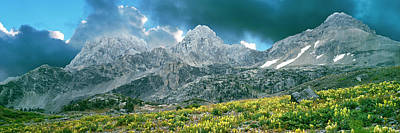 Cascade Canyon Photograph - Storm Clouds Over Mountain, Teton by Panoramic Images