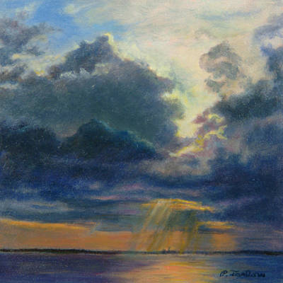 P Town Painting - Storm Clouds Over P-town by Phyllis Tarlow