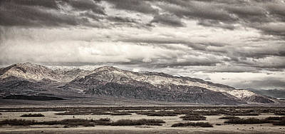 Alluvium Photograph - Storm Clouds Over Snowy Peaks #2 - Black And White by Stuart Litoff