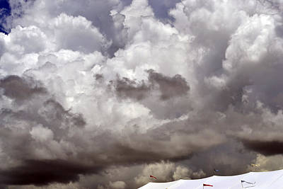 Photograph - Storm Clouds Over The Big Top by Nadalyn Larsen