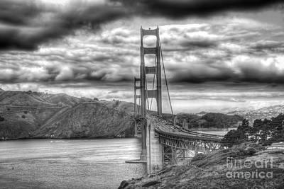 Storm Clouds Over The Golden Gate Bridge Art Print