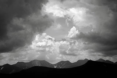 Storm Clouds Over The Great Range Art Print