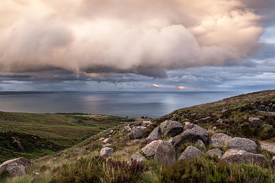 Photograph - Storm Clouds Over The Mourne Mountains by George Pennock