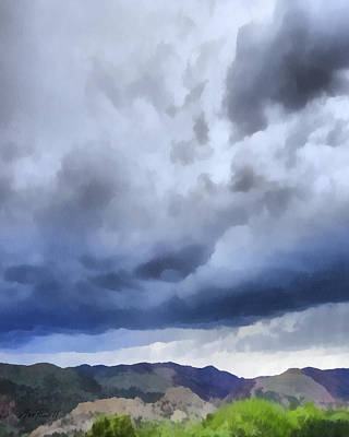 Digital Art - Storm Clouds Over The Rockies by Ann Powell
