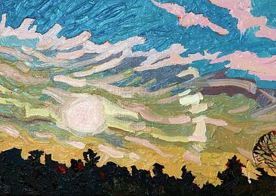 Conveyor Belt Painting - Storm Comin' by Phil Chadwick