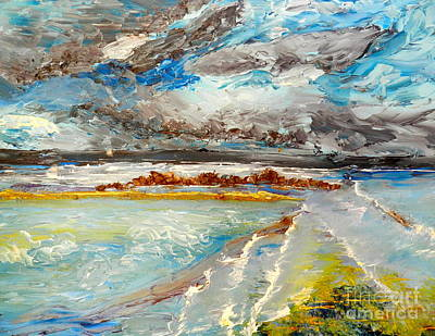 Storm Coming At Austinmer Beach Art Print
