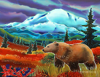 Brown Bear Painting - Storm Coming by Harriet Peck Taylor
