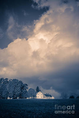 Photograph - Storm Coming To The Old Farm by Edward Fielding