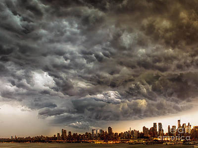 Storm Coulds Over Nyc Art Print by Jerry Fornarotto