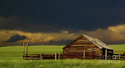 Prairie Storm Photograph - Storm Crossing Prairie 2 by Robert Frederick