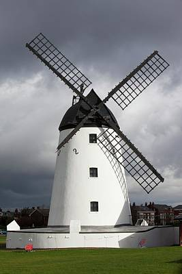 Storm Damage To Windmill Print by Ashley Cooper